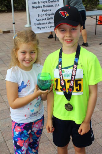 Katya Bleau with Brother Brendan Bleau Age group winner