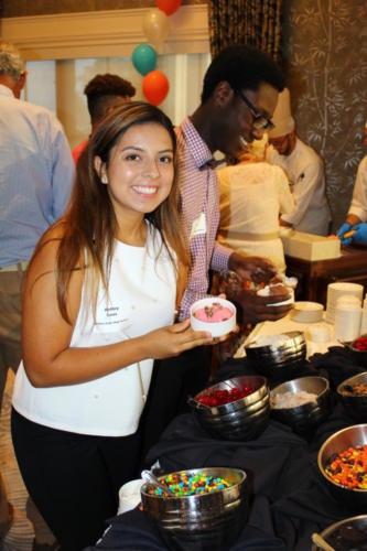 Ashley Leos graduate of Golden Gate High School enjoying the ice cream social