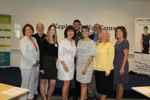 speakers and sponsors -  Cecily Lancit, Larry Lancit, Morgan Overholt, Sue Huff, Matt Romary, Kelly Capolino, Josh Milton, Connie Ramos-Williams, Dorene Murray (speaker not photographed – Tracey Galloway)